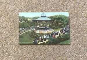 1905 Postcard Roker Park Band Stand Sunderland Used Boyack