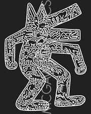 Keith Haring Dog 1985 Abstract Contemporary Pop Art Animal Print Poster 18x24