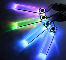 New Color LED Interior Car Kit Under Dash Foot Well Seats Inside Lighting Lamp