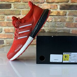 Adidas Ultra Boost DNA Montreal Red Running Shoes Size 9.5 FY3426