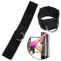 Ankle D-ring Strap Gym Cable Multi Attachment Thigh Leg Pulley Weight Lifting