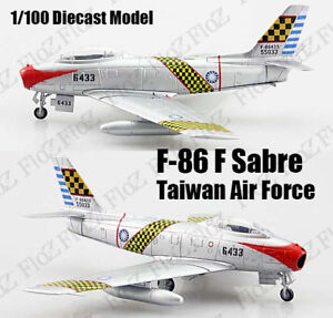 Taiwan Air Force F-86 Sabre F-86F 6433 1:100 diecast Aircraft plane Atlas Model