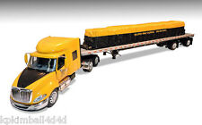DCP Bulldog International ProStar Flatbed & Tarped Load, New, 1/64
