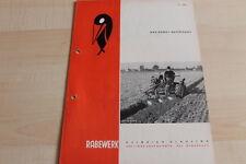 144639) Rabewerk Dreipunkt Beetpflüge Prospekt 11/1965