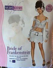 Bride of Frankenstein ADULT Costume Sexy Secret Wishes Rubie's MEDIUM incl Wig