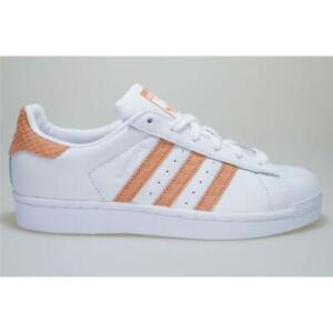 Adidas Superstar W CG5462 White/Orange Trainers Shoes Women