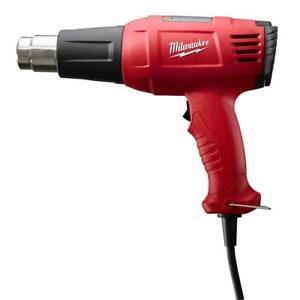 Milwaukee Corded Heat Gun 11.6-Amp Variable Temperature Impact-Resistant Handle