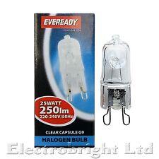 1 x G9 25w Eveready lunga vita regolabile ENERGIA RISPARMIO LAMPADINE DA Capsula Watt 240V UK