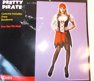 Pretty Pirate Adult Costume Dress Bandanna OSFM NIP