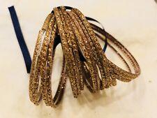 Pakistani Indian Traditional 16 Gold Glass Bangles Ballet Bollywood Eid Sz 2.5