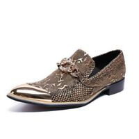 Fashion Men British Style Leather Pointy Toe Slip On Party Business Casual Shoes