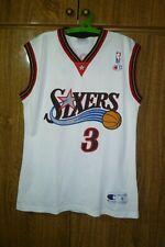 Philadelphia 76ers Champion NBA Jersey #3 Allen Iverson Basketball Men Size S