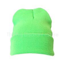 Bright Plain Colour Beanie Hat Woolly Hat