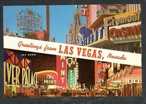 D333 Antique Advertising Chrome 6x9 Postcard Las Vegas NV