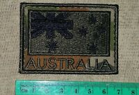 ANF FLAG PATCH AUSTRALIAN ARMY SUBDUED BLACK & OLIVE ON CAMO COLOURED #4