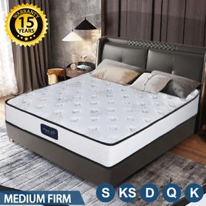 Queen Double King Single Bed Mattress Pocket Spring Medium Firm Foam Dream Lover