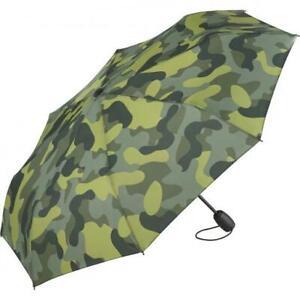 Taschenschirm mit Auf/Zu-Automatik, Camouflage Design windstabil Fibertech