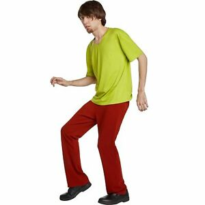 Scooby-Doo Shaggy Costume, Adult Standard Size, with T-Shirt, Bell-Bottom Pants