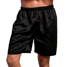 Men's Sleepwear Silk Satin Underwear Home Shorts Nightwear Slim Pyjamas Bathing
