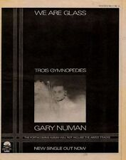 Gary Numan Trois Gymnopedies UK '45 advert 1980