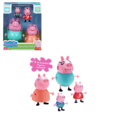 Peppa Pig Family Figura Conjunto de 4 Figuras de juguete Peppa George Daddy & Mummy Pig