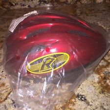 BIKE HELMET NEW IN PLASTIC HELMETS R US PREMIUM RED ADJUST (Small 50-54cm)