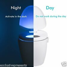 Led WC Sensor Night Light Toilet Motion Lamp Automatic Activation 8 Color WOW