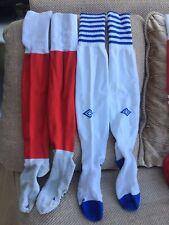 Umbro Vintage Notts Forest & Blackburn Home Football Socks Size 10-13 Great Cond
