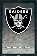 RAIDERS COMMITMENT TO EXCELLENCE FOOTBALL POSTER - LARGE SIZE 24x36