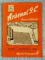 1950 - ARSENAL v HUDDERSFIELD TOWN PROGRAMME - 1ST DIVISION - 49/50