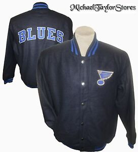 St. Louis Blues Men's NHL Embroidered Wool Full Snap Winter Jacket