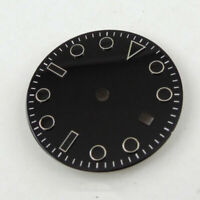 Watch Parts 28.5mm Black Watch Dial Watch Face fit DG2813 MIYOTA 8215 Movement