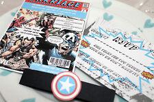 Vintage Marvel/DC Comic Book Wedding Invitation Set