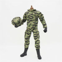 1/6 Scale Uniforms Coveralls Suit Tiger camo + Cap hat B005 Action Figure