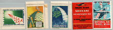PRE-WWII ENVELOPE STAMPS POSTER STAMPS CELEBRATIONS EARLY AIR FLIGHTS 1930'S