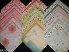 12x12 Scrapbook Paper Spring Blossoms & Bliss 60 Wholesale Lot Recollections Kit