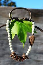 Wonderful Heishi sponge coral and coconut shell bead  NECKLACE