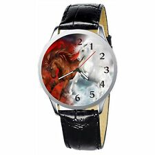 Beautiful Horses Stainless Wristwatch Wrist Watch