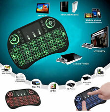 Mini 3 Colors Backlit 2.4GHz Wireless Keyboard Touchpad For Smart TV Xbox PS3