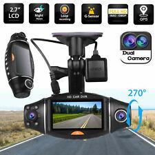 Dual Lens HD 1080P GPS Vehicle Car DVR Dash Cam Video Recorder G-Sensor Camera