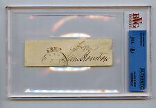 General Sam Houston Signed Free Frank JSA COA Cut Auto Autograph Signature Rare
