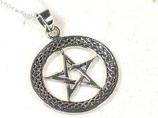 Celtic knotwork pentagram Sterling Silver Pendant