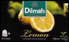 Dilmah Tee-Lemon flavoured black Ceylon Tea 20 bustina del tè