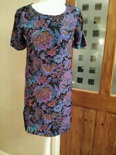 NEXT TUNIC/SHIFT DRESS STUNNING PURPLE/BLUE FLORAL VISCOSE MIX UK  SIZE 8 BNWT
