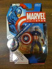 Marvel Universe S.H.I.E.L.D. Files Captain America Figure NEW FREE SHIP US