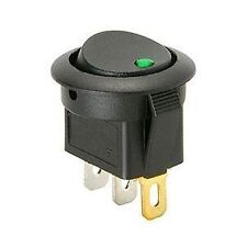 New 12V Green LED Light Round Rocker Toggle Switch Car Truck RV Boat Home fu