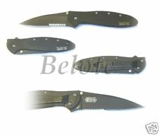 Kershaw Black Leek Serrated Folding Knife 1660CKTST NEW