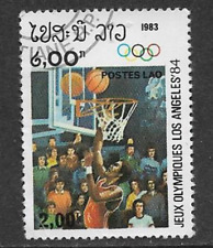 POSTES LAO ISSUE 1983 USED COMMEMORATIVE STAMP - OLYMPICS LOS ANGELES 1984
