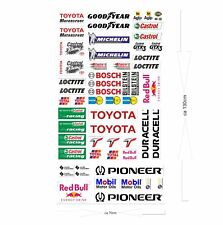Toyota Logo Autoaufkleber Sponsoren Marken Aufkleber Decals Tuning Sticker Set