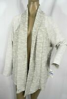 Style & Co. Size XL Cardigan Womens Draped Open Front Marled Cardigan NEW $49